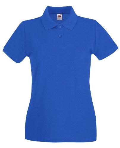 Damen Kurzarm Premium Polo T-Shirt verschiedene Farben und Größen - Shirtarena Bündel Royal Blue