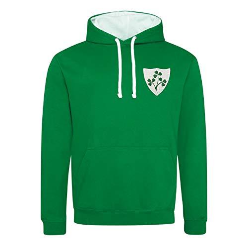 Print Me A Shirt pour Homme rétro Irlandais Crest Rugby Sweat à Capuche - - M/ 102 cm