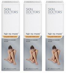 Skin Doctors Hair No More Spray - 3er Pack - 360 ml - Spray zur Haarentfernung | Schmerzfreie Haarentfernung |Hautschonend und sanft |Stoppt das Haarwachstum | Hemmungsspray| 100% natürlich