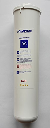 Aquaphor K107B 2-Stufen QuickChange Wasser-Filter- Patrone Carbonblock und Micro-Hohlfaser für Keimfreiheit K1-07B QC -