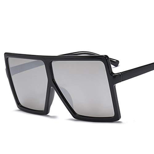 GJYANJING Sonnenbrille Sonnenbrille Frauen Großen Rahmen Platz Sonnenbrille Vintage Übergroßen Sonnenbrille Reisen Damen Shades Uv400
