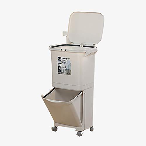 Poubelle De Recyclage pour Les DéChets De Cuisine   Corbeille à Papier avec Capacité 45l