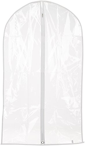 Hangerworld 2 sacs Vêtements transparentes, 100 cm, avec bordure blanche