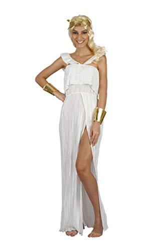 Bristol Novelty AF087 Göttin Kostüm, Damen, Weiß, Gold, Einheitsgröße