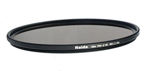 Haida Slim ND Graufilter PRO II MC (mehrschichtvergütet) ND1.2 (16x) - 72mm - inkl. Cap mit...