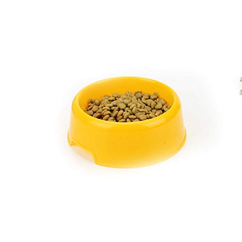 CRMY Fressnapf, abgerundete Felge Katzennapf Futternapf Pet Food Cup Reisschale Candy Color, 14 × 10,5 × 4,5 cm (Color : Yellow)