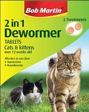 Bob Martin 2in1 Dewormer Cats & Kittens 2 Tab's Bulk Deal of 6