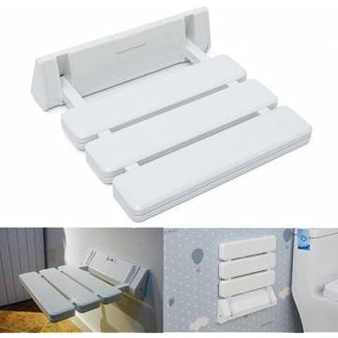 Wall Mounted Blanco Ducha plegable plegable Taburete para cuarto de baño