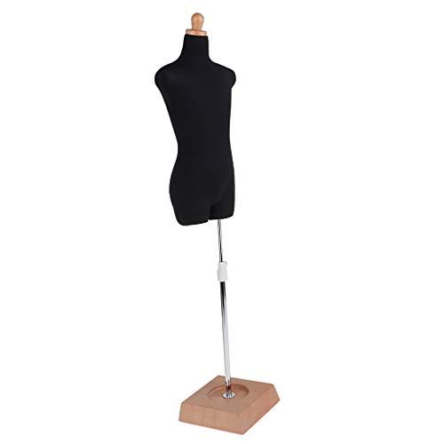 P Prettyia Einstellbare Männlichen / Weibliche Oberkörper Mannequin Schaufensterpuppe Stand Halter Für 1/3 BJD Puppe Kleidung Display - # A