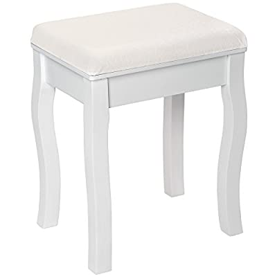 TecTake Padded dressing table stool | elegant design | approx. 40x30x51cm - inexpensive UK light shop.