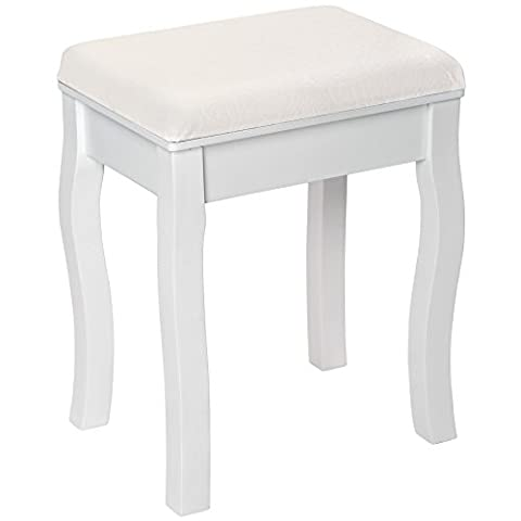 TecTake Tabouret pouf pour coiffeuse avec coussin petite chaise en