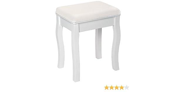 Tectake sgabello per tavolo da trucco toeletta sedia shabby chic