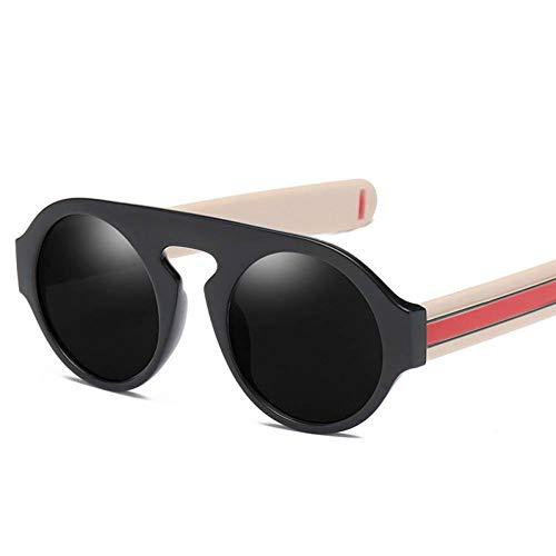 YLNJYJ Retro Runde Sonnenbrille Shades Visier Markendesigner Unisex Sonnenbrille Für Männer Frauen Trend Outdoor Brillen Zubehör