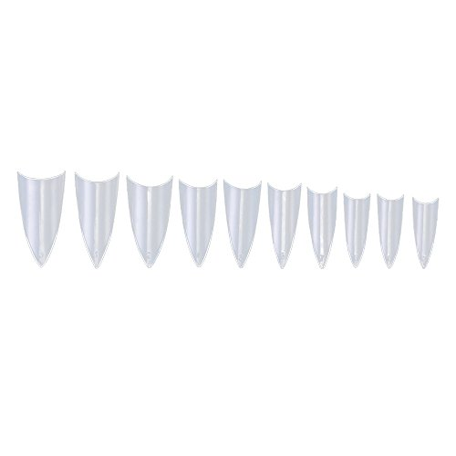 Merssavo 500 Pcs Transparent Fausse Faux Faux Complet Ronde Acrylique UV Gel Nail Manucure Art Conseils