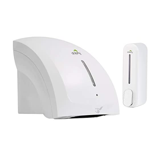 Dolphy Automatic Hand Dryer with liquid soap dispenser - White