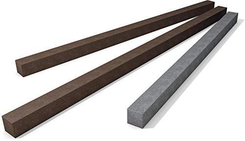 Vierkant Balken Profil aus Kunststoff, braun, ca. 40 x 40 mm (500 mm)