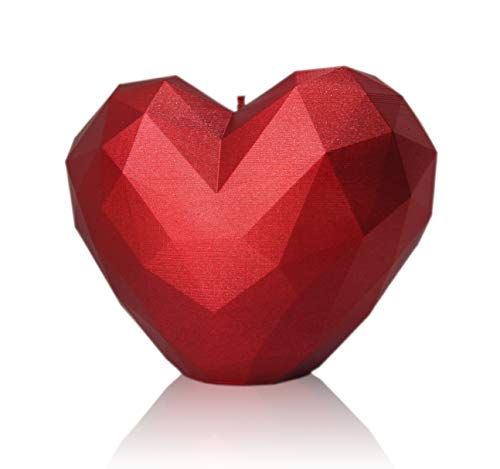 All\'s Candle Kerze Deko Herz Valentinstag Deko Kerze Echte Herzförmige Kerze Handgemacht Geruchlos Langlebige Hochwertige Zutaten Geschenk für Romantiker