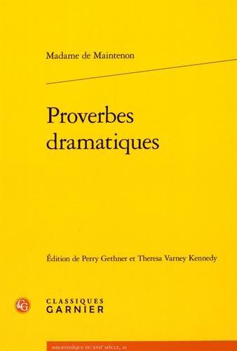 Proverbes dramatiques par Madame de Maintenon