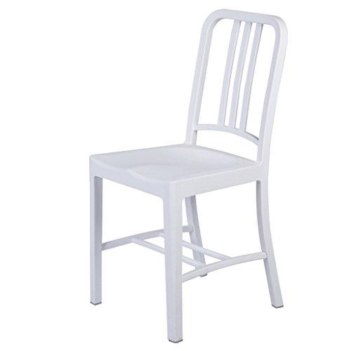 Cs Ordinateur Dossier Chaise Dossier Bureau Design Créativité Tabouret Table Chaise Carrée en Plastique Épaisseur Bonne Gravité (Color : White)