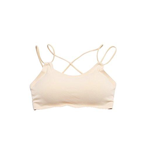 Tinksky Frauen Backless Crop Top Bralette BH Strap Bandeau Tube BH Top Weste für Frauen Mädchen (Skin-Color)