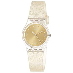 Swatch Womens Analogue Quartz Watch with Silicone Strap LK382