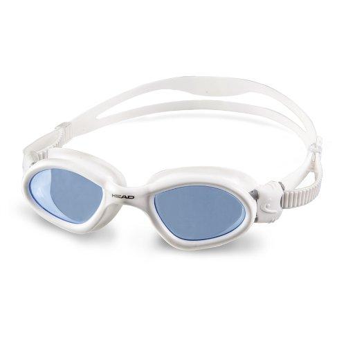 HEAD Schwimmbrille Superflex, Schwarz, Unisex - Erwachsene, Superflex, blau/weiß, Einheitsgröße