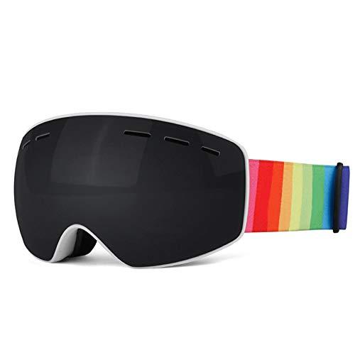 Amody Skibrillen Kinderdoppel-Lagen-Skibrillen Anti-Fog Sphären-Skibrillen Draussen Ski-Brillen-Gläser Schwarz
