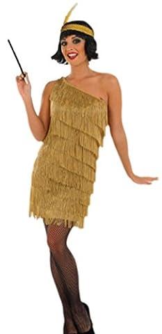 erdbeerloft–Femme Gold Charleston ANNÉES 1920Flapper Costume, M de XXL, doré - Or - Large
