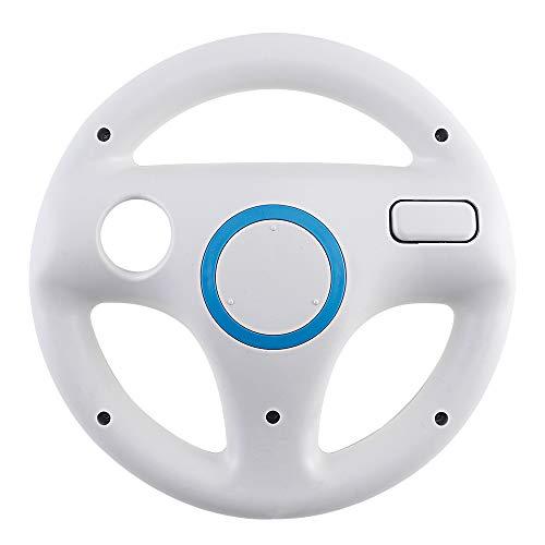 2 Stück Weiß Mario Kart Racing für Wii Lenkrad Kunststoff Spiel Fernbedienung Spielzubehör (Wii-spiel Stand)