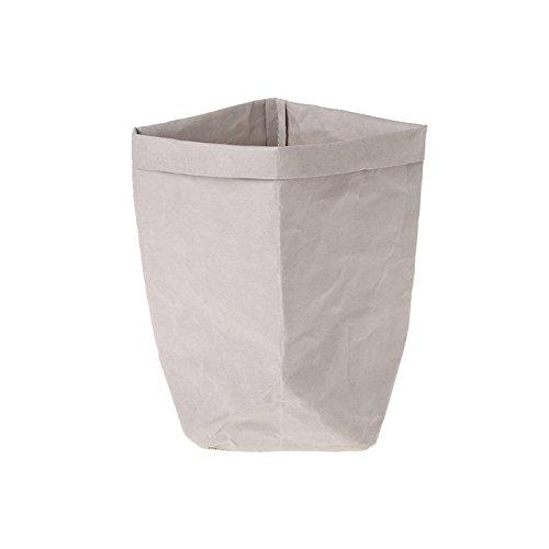 Sac en papier Kraft Shizuhatagayama lavable Multi Fonctions pour plantes et fleurs à pain de stockage de cadeau de fête de mariage, Papier Kraft, gris, 35 cm