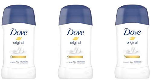 Dove - Desodorante en stick original, pack de 3 (3 x 40 ml)