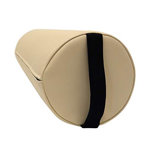 Massage Lagerungsrolle mit Griff für die Massageliege - Vollrolle Knierolle mit PU-Bezug in verschiedenen Farben und wasserabweisend (Beige) -