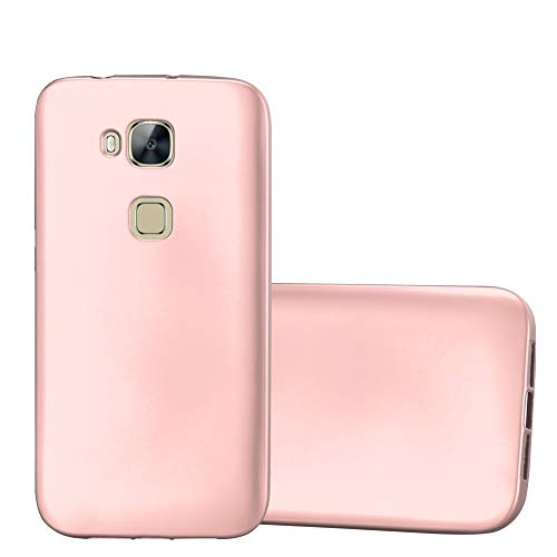 Cadorabo Hülle für Huawei G7 Plus / G8 / GX8 - Hülle in METALLIC Rose Gold - Handyhülle aus TPU Silikon im Matt Metallic Design - Silikonhülle Schutzhülle Ultra Slim Soft Back Cover Case Bumper