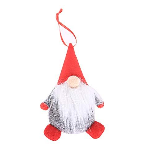 Overdose Weihnachtsdekoration Puppe Weihnachtsbaum Basteln Weihnachtssnhänger Christbaumschmuck Baumanhänger Fensterdeko Tischdeko Wohnaccessoires