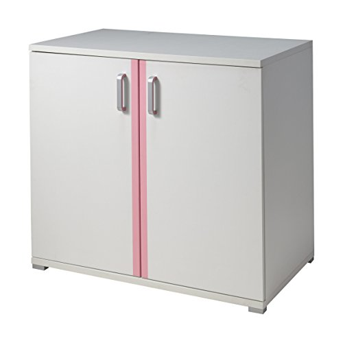 VIPACK VAKO1212 Kommode Valentine, 2-türig, circa 92 x 70 x 45 cm, weiß / rosa