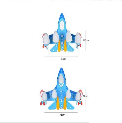 GCCI Lampen in der Decke von Flugzeugen, Schutzbrillen der LED-Beleuchtung Lampen für House of Child House Jungen von 4 bis 5 Leuchten E27 Head Personality,76 * 74 cm