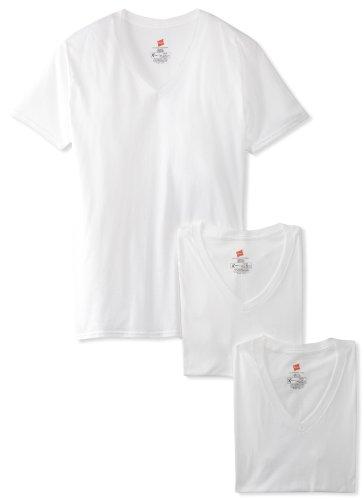 Hanes Ultimate Herren T-Shirt FreshIQ X-Temp V-Ausschnitt 3er-Pack - Weiß - X-Large (V-ausschnitt Hanes Unterhemd)