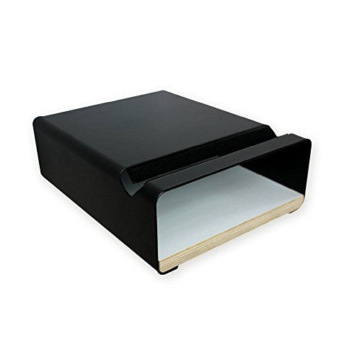 g - V Shelf in elegantem Design - pulverbeschichtetes Aluminium und eine Multiplex Platte setzen Dein Fahrrad an diesem Wandhalter perfekt in Szene - optimal für Zuhause schwarz - verschiedene Regalböden - 24 x 30 x 10 cm (weiß) ()