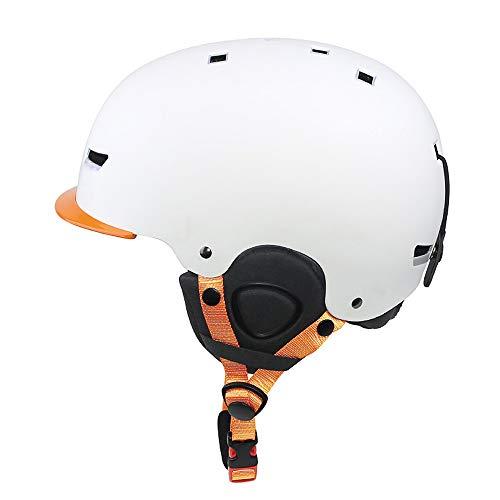 Asdomo Ski- / Snowboard-Helm, leicht, verstellbar, Winddicht, mit bequemem Innenfutter, für Erwachsene, Herren, Damen, Jugendliche, Skifahren, Snowboarden, Skaten, weiß, Large -
