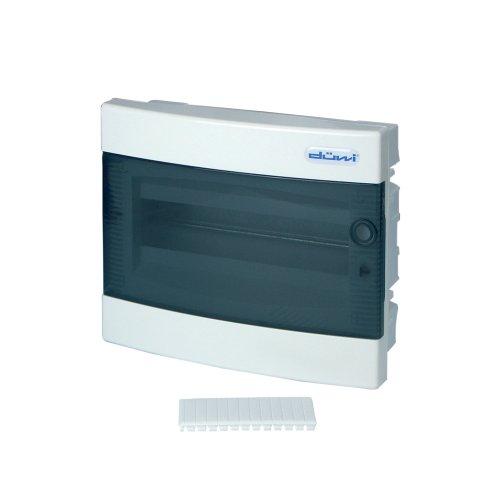 0515504555 Kleinverteiler Unterputz mit Tür 1-reihig, transparent / weiß