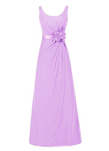 Dresstells, robe de soirée sans manches, robe longue de cérémonie, robe de demoiselle d'honneur Lavande