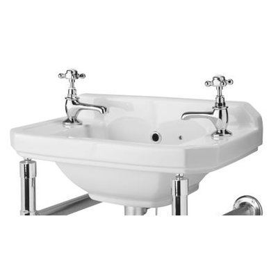 Carlton 51.5 cm Wall Hung Basin - Manufactured from high quality vitreous China Faucet not included