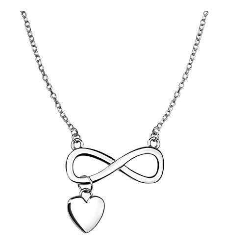 SOFIA MILANI Damen Halskette Unendlich Infinity Herz Silber 50099