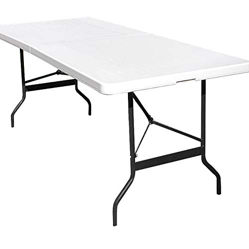 Monzana Table Pliable en Plastique Blanc 76 x...