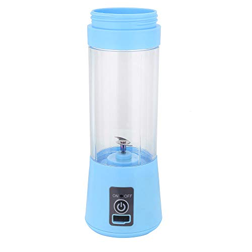 Mini Standmixer, Nourich Handheld Smoothie Maker, Standmixer, 380ml Flaschen, Multifunktion Smoothiemaker mit USB-Ladekabel Juicer Mini Blender Persönlicher Mixer Reisesportflaschen (Blau) - Manuelle Portable Mixer