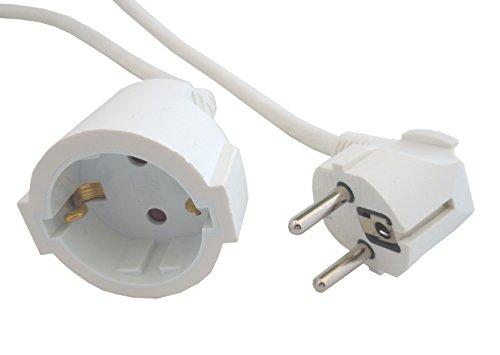 Cable alargador 10 metros Blanco 3x1,5mm H05VV-F