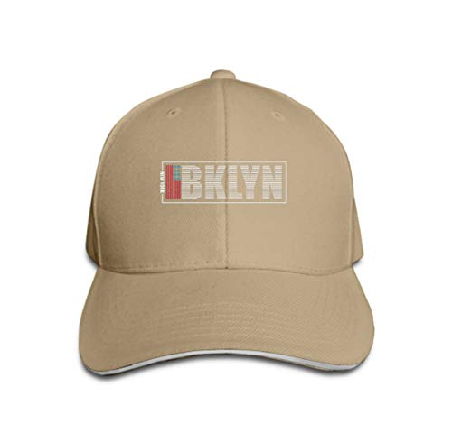 Xunulyn Classic Cotton Hat Adjustable Plain Cap, Baseball Cap Adjustable Size Curved Visor Hat Brooklyn New York Typography Print Athletic Clothes usa FLA -