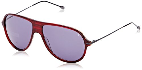 John Varvatos V778 Aviator Sonnenbrille, Red (Chianti)