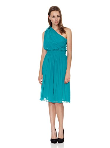 mango-robe-col-asymetrique-femme-vert-small