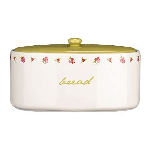 Latest Design Rose Cottage Bread Crock Made of Ceramic With Wording Detail